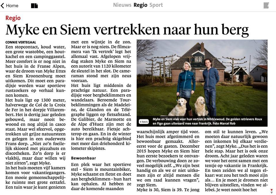 Noord-Hollands Dagblad  maart 2015 (1)