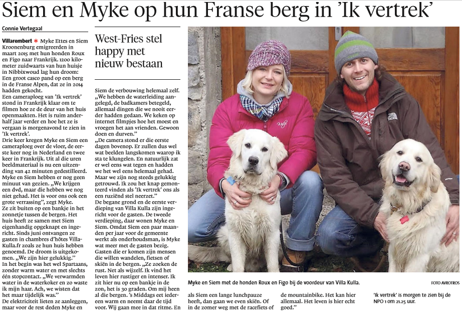 Noord Holland Dagblad 7-9-2016